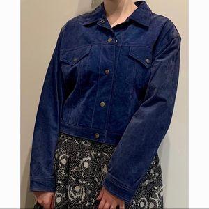 Suede leather unisex jacket